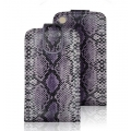 VERTICAL CASE - IPHONE 3G/3GS SNAKE SKIN COBRA VIOLET