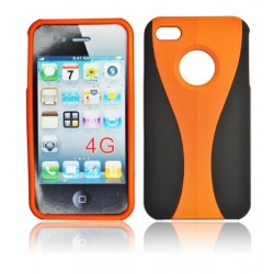 CUP COMBO CASE IPHONE 4G/4S BLACK/ORANGE