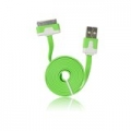 USB Flat Cable - APP IPHO 3G/3Gs/4G green