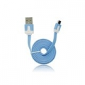 USB Flat Cable - micro USB blue