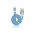USB Flat Cable - APP IPHO 5/5C/5S/iPAD Mini blue iOS7 compatibile