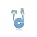 USB Flat Cable - APP IPHO 3G/3Gs/4G/iPad/iPod blue