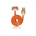 USB Flat Cable - APP IPHO 3G/3Gs/4G/iPad/iPod orange