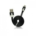 USB Flat Cable - APP IPHO 5/5C/5S/iPAD Mini black iOS7 compatibile
