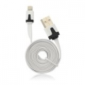 USB Flat Cable - APP IPHO 5/5C/5S/iPAD Mini white iOS7 compatibile