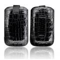 SLIM CASE CROCO BLACK - IPHONE 3GS/4G/SAM i900 OMNIA