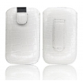 SLIM CASE CROCO WHITE - IPHONE 3GS/4G/4S/SAM i900 OMNIA