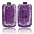 SLIM CASE CROCO VIOLET - IPHONE 3GS/4G/SAM i900 OMNIA