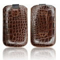 SLIM CASE CROCO PRUUN - IPHONE 3GS/4G/SAM i900 OMNIA