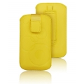 Forcell Deko Case - APP IPHO 3G/4G/4S/S5830 Galaxy Ace/S6310 Young yellow