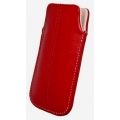 LEATHER CASE FORCELL - SLIM DELUXE - iPHONE 3G/4G / NOK N97/ i900 OMNIA RED