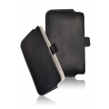 LEATHER CASE FORCELL - SLIM DELUXE - SAM N7000 GALAXY NOTE PULL UP BLACK