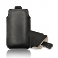 LEATHER CASE FORCELL - SLIM DELUXE - SAM I9000 GALAXY S/I9100 GALAXY S II PULL UP BLACK