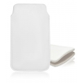 LEATHER CASE FORCELL - SLIM DELUXE - IPHONE 5 white