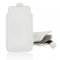 LEATHER CASE FORCELL - SLIM DELUXE - IPHONE 5 PULL UP WHITE