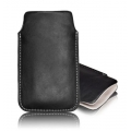 LEATHER CASE FORCELL - SLIM DELUXE - SAM I9300 GALAXY S3/i9500 GALAXY S4 PULL UP BLACK