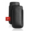 LEATHER CASE FORCELL - SLIM DELUXE - NOK 6300/5310/7310, SEK W880/W890 BLACK