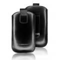 LEATHER CASE FORCELL - SLIM - SAM I9100 GALAXY S2/ I9000 GALAXY S/HTC DESIRE BLACK