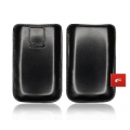 LEATHER CASE FORCELL - SLIM MAGNETIC- iPHONE 3G/4G/ i900 OMNIA BLACK
