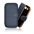 FORCELL CASE - PRESTIGE - SAM I9300 GALAXY S3 DARK BLUE BOOK STYLE