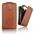 FORCELL PRESTIGE VERTICAL CASE - SAM i9100 GALAXY S2 BROWN