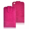 VERTICAL CASE - IPHONE 3G/3GS SNAKE SKIN PINK