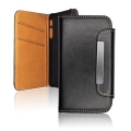 LEATHER SLIM VERTICAL CASE - SAM I9190 Galaxy S4 Mini WALLET