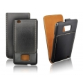 LEATHER SLIM VERTICAL CASE - SAM i9100 GALAXY S II