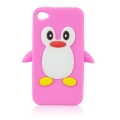 Silikon case 3D -penguin - sam i9300 Galaxy S3 pink