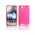 BACK CASE S-line - SON Xperia Z PINK