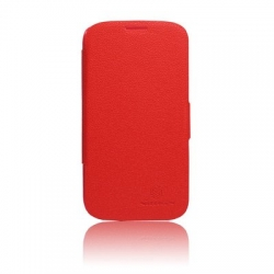 Fresh Series Leather Case Nillkin Sam i9500 S4 Red + Screen Protector