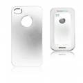METAL CASE IPHONE 4G/4S SILVER (BOX PACKING)