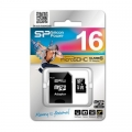 MEMORY CARD SILICON POWER microSDHC + adapter SD 16GB