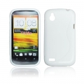 BACK CASE S-line - HTC DESIRE X WHITE