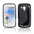 BACK CASE S-line - SAM S7560 GALAXY TREND / S7562 GALAXY S DUOS BLACK