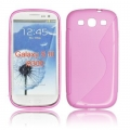 BACK CASE S-line - SAM I8190 GALAXY S3 mini PINK