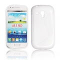 BACK CASE S-line - SAM I8190 GALAXY S3 mini WHITE