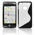 BACK CASE S-line - APP IPHO 4/4S BLACK/ TRANSPARENT