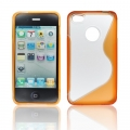 BACK CASE S-line - APP IPHO 4/4S ORANGE
