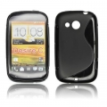 BACK CASE S-line - HTC DESIRE C BLACK