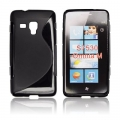 BACK CASE S-line - SAM S7530 OMNIA M BLACK