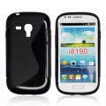 BACK CASE S-line - SAM I8190 GALAXY S3 MINI BLACK