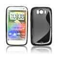 BACK CASE S-line - HTC SENSATION XL BLACK