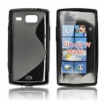 BACK CASE S-line - SAM I8350 Omnia W BLACK