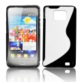 BACK CASE S-line - SAM I9100 GALAXY S2 BLACK/ TRANSPARENT