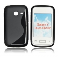 BACK CASE S-line - SAM S6102 GALAXY Y DUOS BLACK