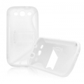 BACK CASE S-line - SAM I9300 GALAXY S3 WHITE/ TRANSPARENT STAND