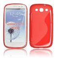 BACK CASE S-line - SAM I9300 GALAXY S3 RED