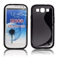 BACK CASE S-line - SAM I9300 GALAXY S3 BLACK
