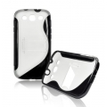 BACK CASE S-line - SAM I9300 GALAXY S3 BLACK/ TRANSPARENT